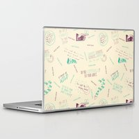 tegan and sara Laptop & iPad Skins featuring Doodlethrob (Tegan and Sara) creme by MR Kent