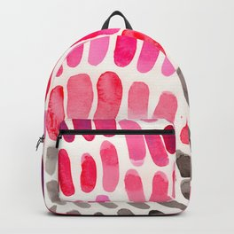 Pretty Pink Pastel Purple Watercolor Colorful Organic Pattern Mid Century Modern Art Backpack