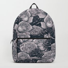 Stop and Smell the Roses B&W / Rose pattern Backpack