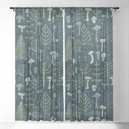 Magic Forest Green Sheer Curtain