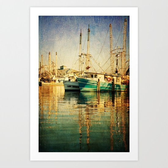 Pass Christian Harbor Art Print