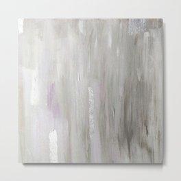 Lavender & Silver Metal Print