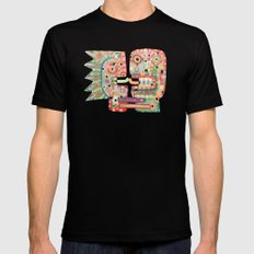 French Kiss Black Mens Fitted Tee MEDIUM