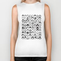 movies Biker Tanks featuring We love movies by Pinfloi