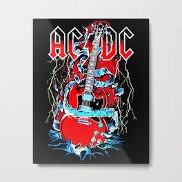 ACDC Guitar Metal Print