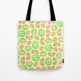 Pixel Watermelon Pattern Tote Bag