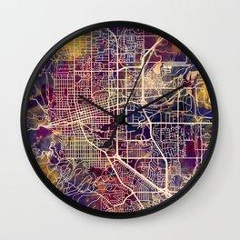 Boulder Colorado City Map Wall Clock