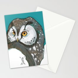 Tengmalm Owl Stationery Cards