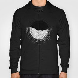 Lines in the mountains - b&w Hoody