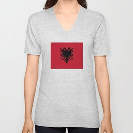 flag of Albania Unisex V-Neck