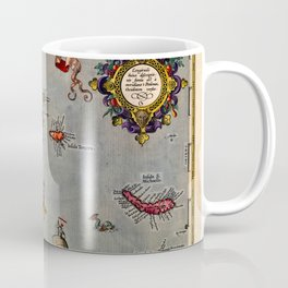 Map Of The Azores 1606 Coffee Mug