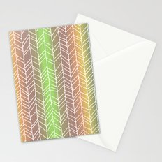 Colorful Rainbow Feather Pattern Stationery Cards