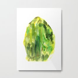 Raw Peridot  Metal Print