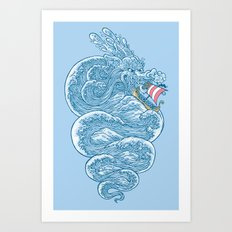 hello little dragon Art Print