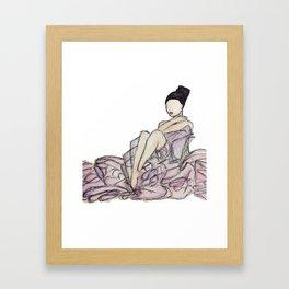 Glamorous Woman Framed Art Print