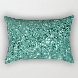 Green glitter Rectangular Pillow