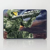 master chief iPad Cases featuring Master Chief by PrintsofErebor