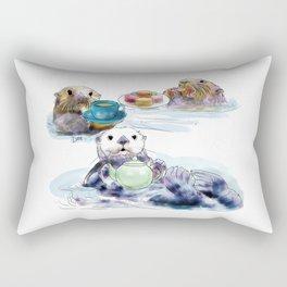 The Otter's Tea Rectangular Pillow