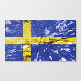 Extruded Flag of Sweden Canvas Print