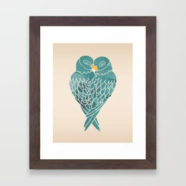 Love Birds (Blue) Framed Art Print