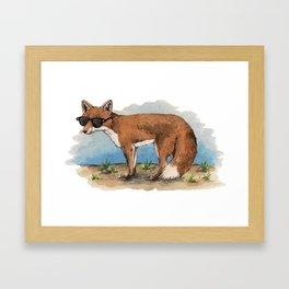 Fancy Fox Framed Art Print