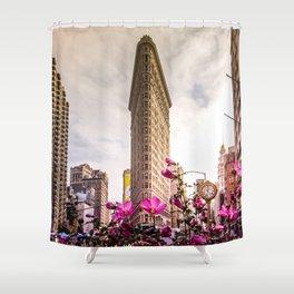 Flatiron and Flowers Shower Curtain