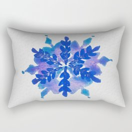 WATERCOLOR SNOWFLAKE 4 - blue and purple palette Rectangular Pillow