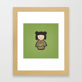 Geisha Dress Code (green) Framed Art Print