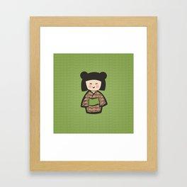 Geisha Dress Code (green) Framed Art Print