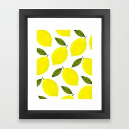 When Life Gives You Lemons Framed Art Print