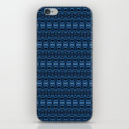 Dividers 07 in Blue over Black iPhone Skin