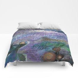 Issaquah Washington...Mixed Media Art by Seattle Artist Mary Klump Comforters