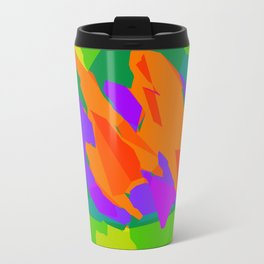 colorful abstract background in purple orange green and blue Travel Mug