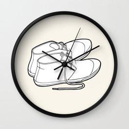Black & white sneakers Wall Clock