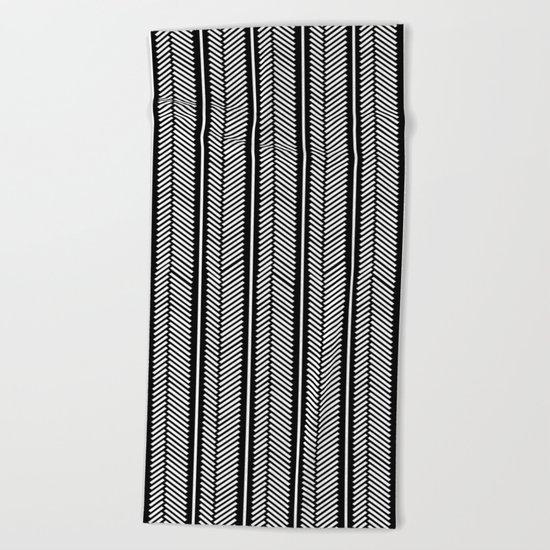 Herringbone Stripe Beach Towel