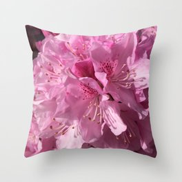 Pink Rhododendron Throw Pillow