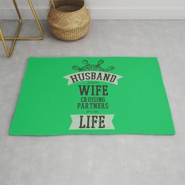 Husband And Wife Cruising Partners For Life Rug