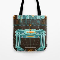 tron Tote Bags featuring Tron Legacy by HomePosters