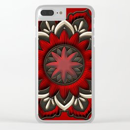 Wonderful noble mandala design Clear iPhone Case