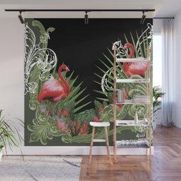 Baroque Flamingos Wall Mural