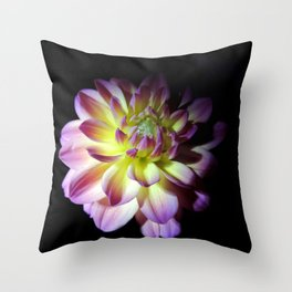 Blooming in the Darkness Throw Pillow