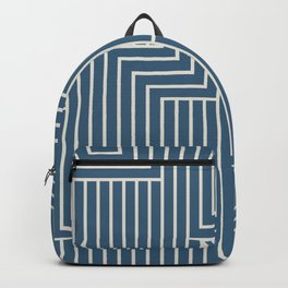 Linen White & Blue Art Decor Pattern 2 Inspired by Chinese Porcelain 2020 Color of the Year Backpack