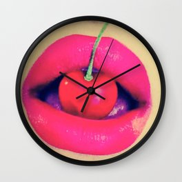 Hot hot Lips Wall Clock