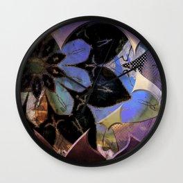 Love flower pattern Wall Clock