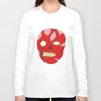 naked Long Sleeve T-shirts featuring Naked Face by  Grotesquer