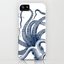Octopus Navy iPhone Case