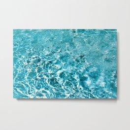 pool water Metal Print
