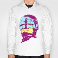 robocop Hoodies featuring Robocop (neon) by Liam Brazier