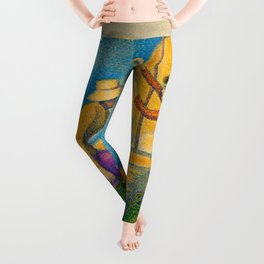 "Paul Signac ""Women at the Well"" Leggings"