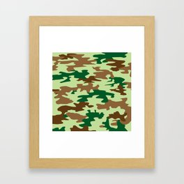Camouflage Print Pattern - Greens & Browns Framed Art Print